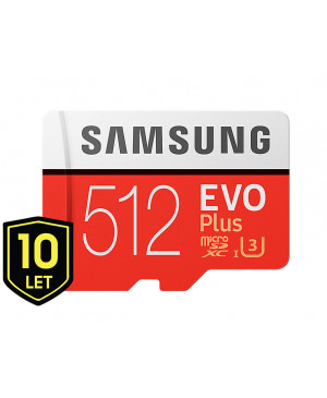 Pamäťová karta Micro SDXC 512GB Samsung EVO Plus + SD adaptér MC512HA/EU