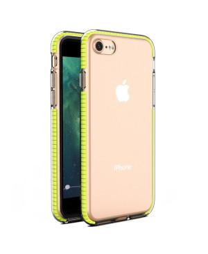 Silikónové puzdro Spring Clear TPU pre Apple iPhone 7/8/SE 2020 žlté