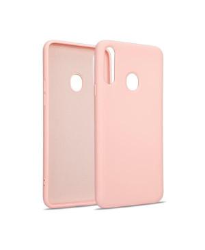 Silikónové puzdro na Samsung Galaxy A12 A125 Beline ružovo zlaté