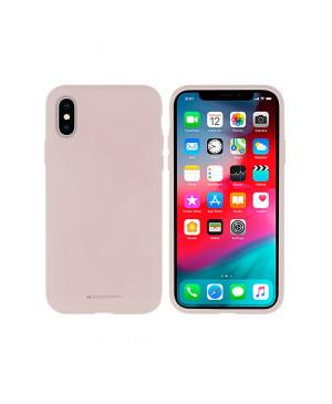 Silikónové puzdro na Apple iPhone 11 Pro Mercury Silicone ružové