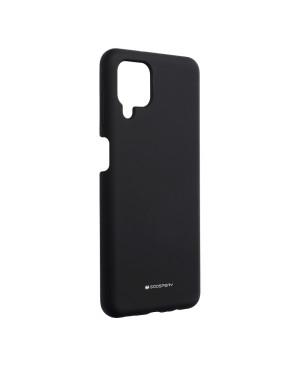 Silikónové puzdro na Samsung Galaxy A12/M12 Mercury Silicone čierne