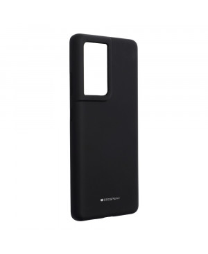 Silikónové puzdro na Samsung Galaxy S21 Ultra 5G Mercury Silicone čierne