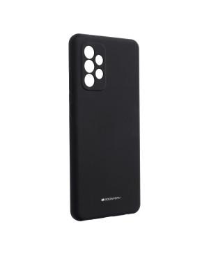 Silikónové puzdro na Samsung Galaxy A72/A72 5G Mercury Silicone čierne