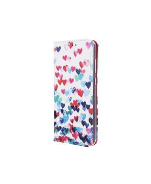Diárové puzdro Smart Trendy Hearts pre Samsung Galaxy J4 Plus viacfarebné