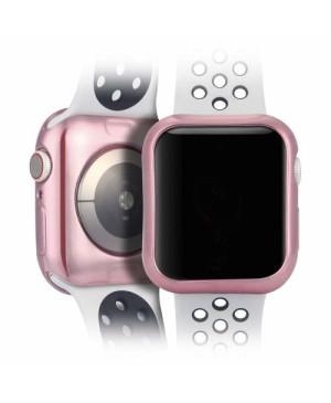 Silikónové puzdro Dux Ducis pre Apple Watch 4 44 mm ružové a transparentné