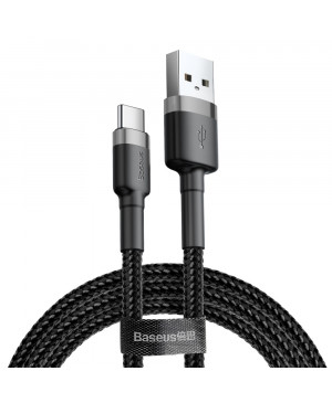 Kábel Baseus Cafule USB typ-C 0.5 m čierno-sivý