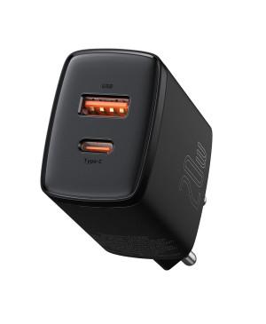 Nabíjačka Baseus CCXJ-B01 Compact Quick Charge USB/USB-C PD 20W čierna