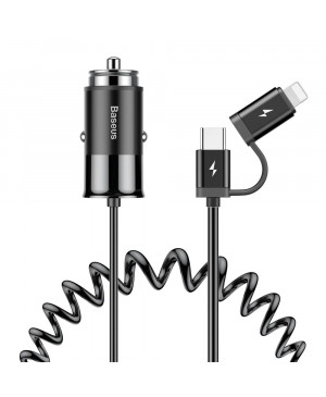 Sieťová nabíjačka Baseus Super Si 1C 20 W TZCCSUP-B01 + kábel USB typ-C/lightning čierna
