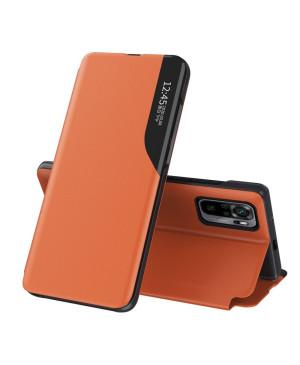 Diárové puzdro na Xiaomi Redmi Note 10 Pro/10 Pro Max View Elegance oranžové