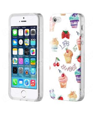 Silikónové puzdro Gel Art pre Apple iPhone 7/8 Muffins Fruit