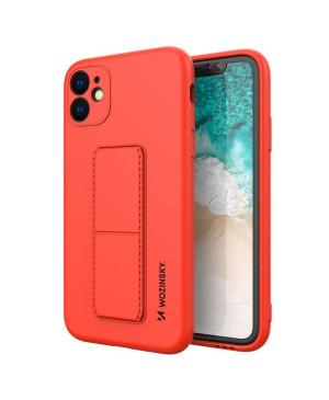 Silikónové puzdro na Xiaomi Redmi Note 9 Kickstand červené