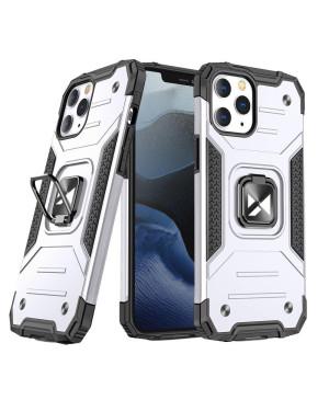 Odolné puzdro na Apple iPhone 13 mini Ring Armor strieborné