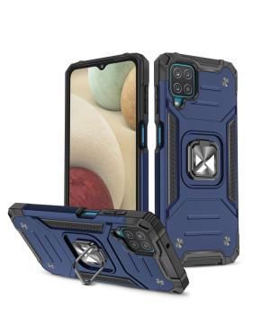 Odolné puzdro na Samsung Galaxy A12 A125/M12 M127 Ring Armor modré