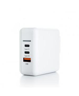 Sieťový adaptér ER Power 65W GaN PD USB-C/USB-A biely