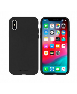 Silikónové puzdro na Apple iPhone XR Mercury Silicone čierne