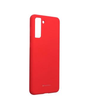 Silikónové puzdro na Samsung Galaxy S21 Plus 5G Mercury Silicone červené