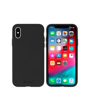 Silikónové puzdro na Apple iPhone 5/5s/se Mercury Silicone čierne