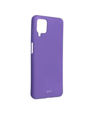 Silikónové puzdro na Samsung Galaxy A12 Roar Colorful Jelly fialové