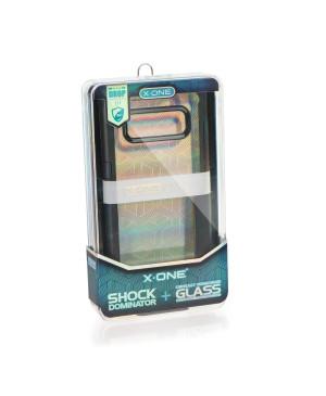 Plastové puzdro X-One Dropguard s tvrdeným sklom 0,33 mm pre Apple iPhone 7/8 čierne