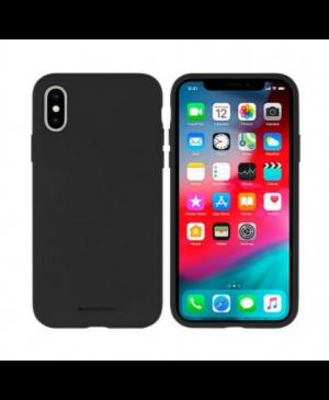 Silikónové puzdro na Apple iPhone 11 Mercury Silicone čierne