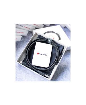 Lightning kábel MFI 2.4A Halo Back Kevlar 1,2 m čiern