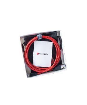 Lightning kábel MFI 2.4A Halo Back Kevlar 1,2 m červený