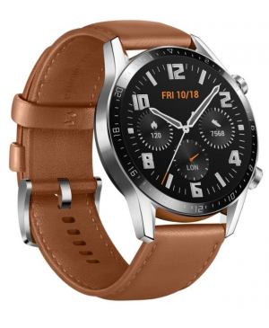 Smart hodinky Huawei GT2 46 mm hnedé