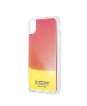 GUHCPXGLCPI Guess Glow in The Dark PC/TPU Pouzdro pro iPhone X/XS Sand/Pink