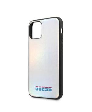 GUHCN58BLD Guess Iridescent Zadní Kryt pro iPhone 11 Pro Silver (EU Blister)