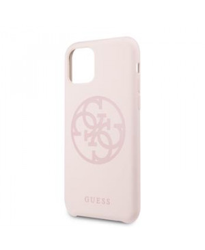 GUHCN65LS4GLP Guess 4G Silicone Tone Zadní Kryt pro iPhone 11 Pro Max Light Pink (EU Blister)