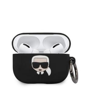 Puzdro Karl Lagerfeld Silikonový na Airpod Pro KLACAPSILGLBK čierne