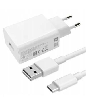 Rýchlonabíjačka Xiaomi MDY-10-EF + USB-C kábel 18W biela (Bulk)