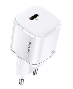 Adaptér USAMS CC124 T36 USB-C 20W Mini Fast Charger biely