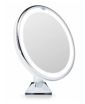 Kozmetické Make-Up zrkadlo iMirror Magnify 10 zväčšujúci 10x s LED osvetlením biele
