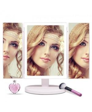 Kozmetické Make-Up zrkadlo iMirror 3D Fascinate trojpanelové s LED Line osvetlením biele