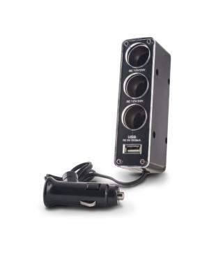 FOREVER rozdeľovač auto zásuvky 3v1 s USB káblom