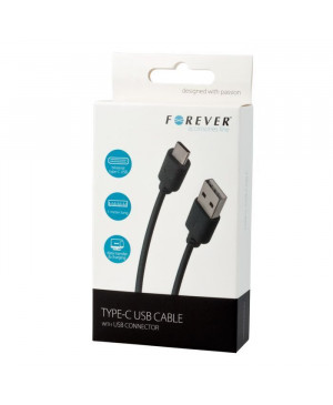 USB kábel typ-C Forever čierny