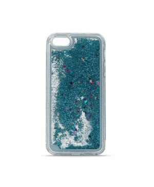 Plastové púzdro Liqiud TPU Glitter Case pre Samsung S7/G930 modré