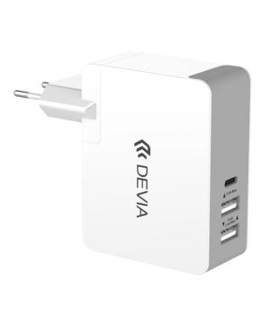 Sieťová nabíjačka Devia Valet pre Macbook 12 a USB typ-C biela