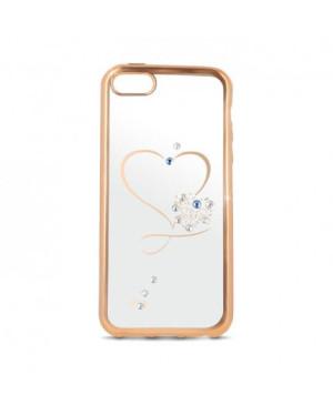 Silikonové puzdro Heart pre Samsung Galaxy S7 zlaté