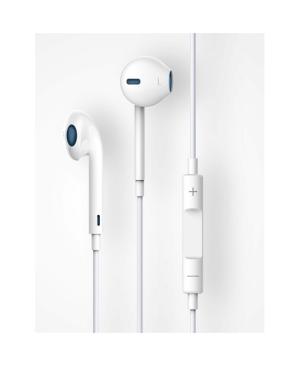 Slúchadlá Devia Smart Remote a mikrofónom biele