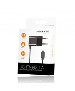 iPhone 5/6 wall charger 1A black