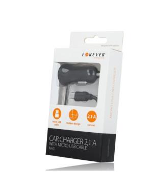 Auto nabíjačka Forever micro USB 2,1A M01 čierna