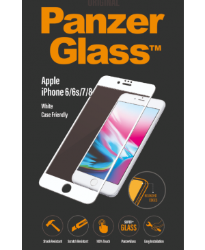 PanzerGlass pre Apple iPhone 8/7/6S/6 biele