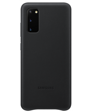 Samsung EF-VG980LB Leather Cover pre Galaxy S20, čierne