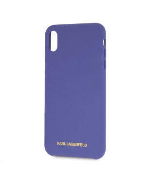 KLHCI65SLVOG Karl Lagerfeld Gold Logo Silicone Case Violet pro iPhone XS Max