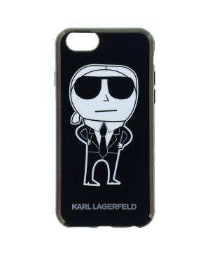 KLHCP6HTKKA Karl Lagerfeld K-Team Black TPU Pouzdro pro iPhone 6 6S 1