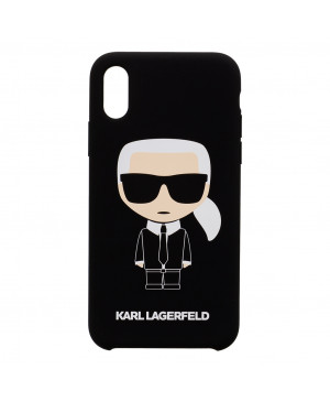 KLHCPXSLFKBK Karl Lagerfeld Full Body Iconic Hard Case pro iPhone X/XS Black