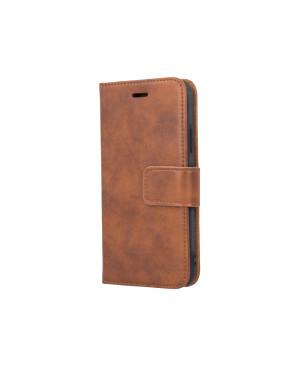 Kožené diárové puzdro Forever Classic pre Apple iPhone X/XS hnedé