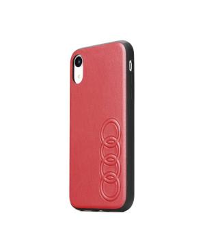 Kožené puzdro Audi pre Apple iPhone Xs Max červené